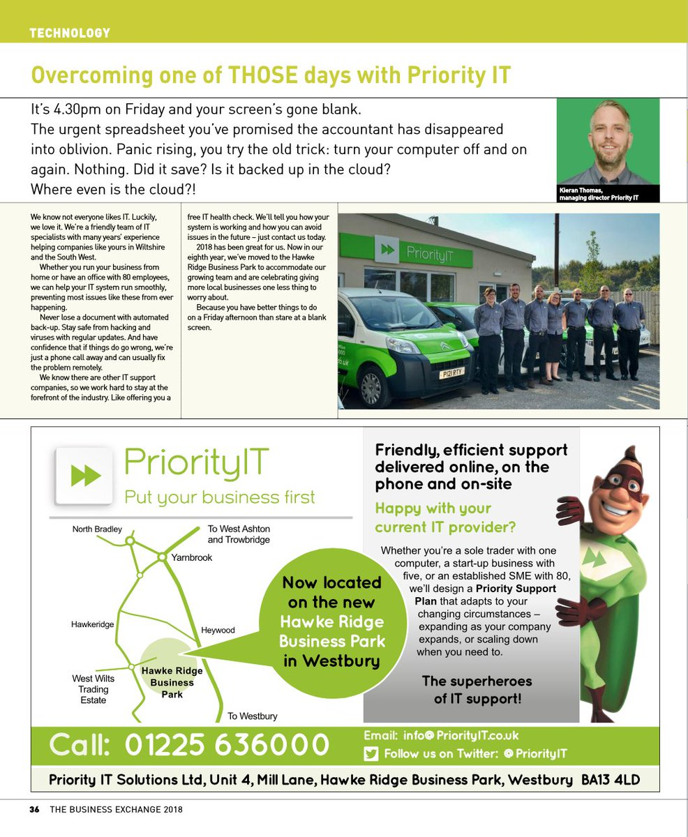 The latest edition of @TBESW has landed on the desk! Read our advertorial on page 36 of the e-copy here:  https:// joom.ag/yz9a/p36  &nbsp;    #itsupport #wiltshire #somerset <br>http://pic.twitter.com/VJO2EnDWd4