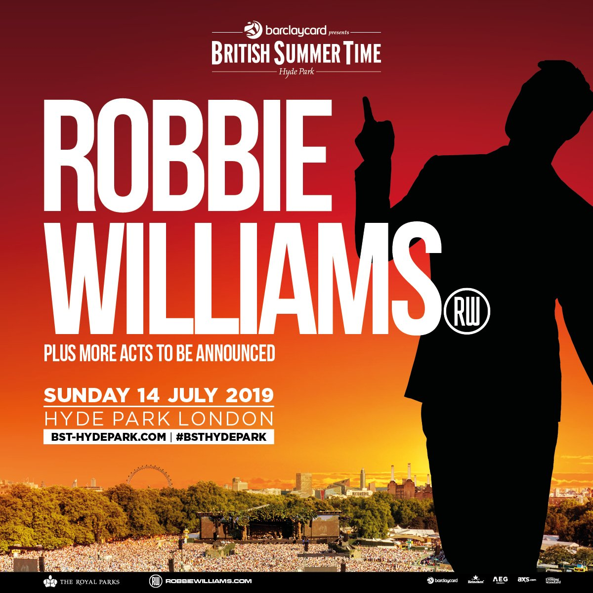 Huge thank you to everyone who bought a ticket to @BSTHydePark in the pre-sale - I can't wait to see you next summer! If you missed out on pre-sale tickets, the general sale is open NOW >> https://t.co/XO0DYL9C0e #BSTHydePark #RobbieLive https://t.co/YZBbFhaCze
