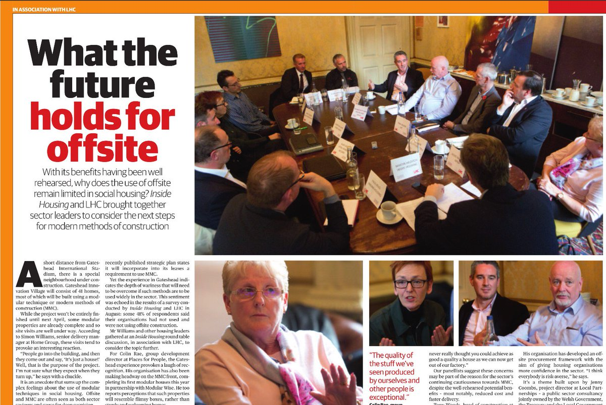 Great write-up for @insidehousing round-table discussion on 'What the future holds for offsite' and modern methods of construction - read all here https://t.co/zEU4sddrkh