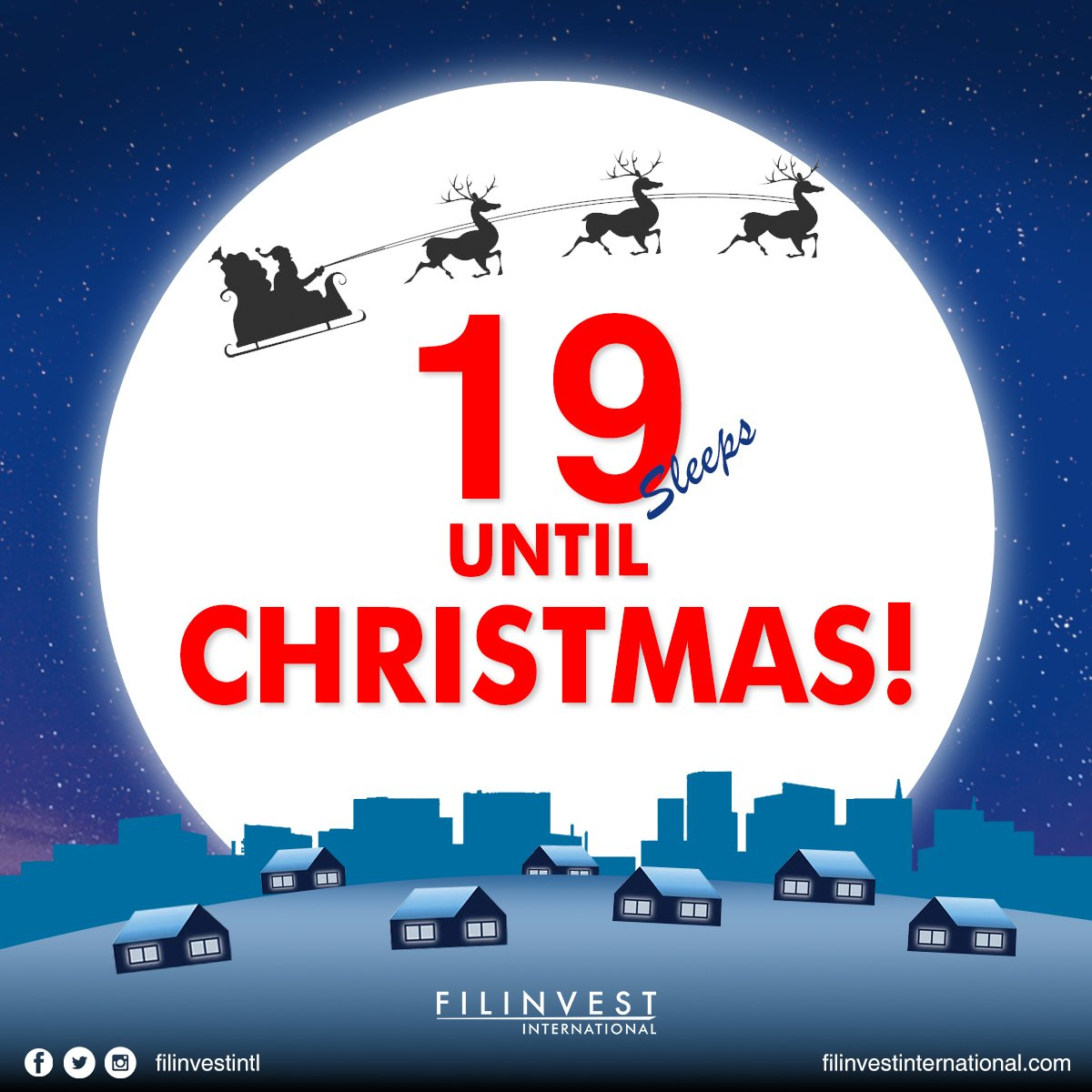 FILINVEST INTERNATIONAL , Christmas is here! What better way to spend this season but to fill your homes with love.  It is 18 Days before Christmas Days! https://t.co/3KYTbadVny