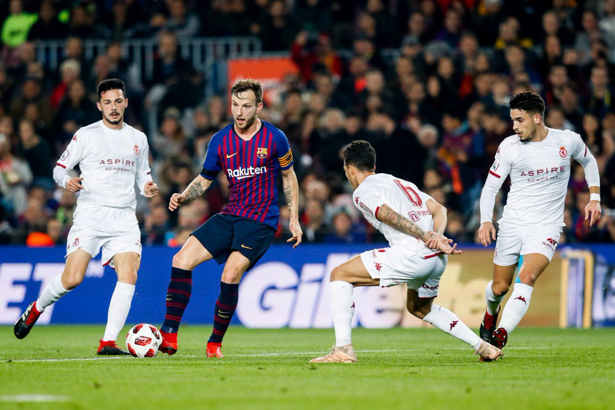 💡We're sensing a common thread from the first half of the #CopaBarça win over Cultural.   Min, Score, Goal (Assist) 18, 1-0, Munir (Rakitic) 26, 2-0, Denis (Rakitic) 43, 3-0, Malcom (Rakitic)  Stellar.