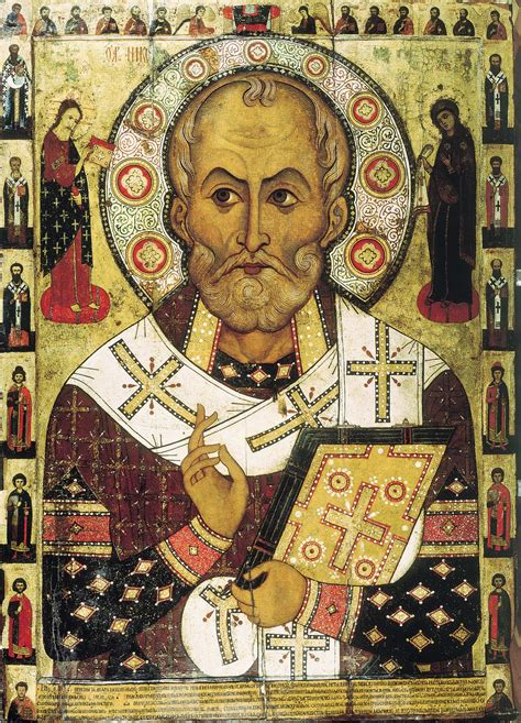 Happy feast of St. Nicholas of Myra / Santa Claus  - the great gift-giver, who also once punched Arius the heretic, allegedly <br>http://pic.twitter.com/RrO6Zg40Rr