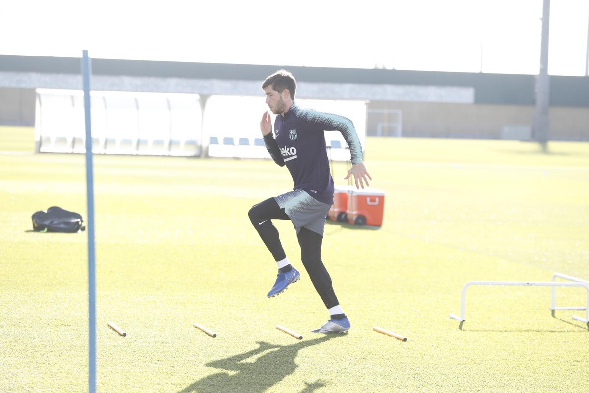 💪⚽ Following the #CopaBarça, there's time for just 2 training sessions before the derby with Espanyol.   🔵🔴 The first of those has just finished.