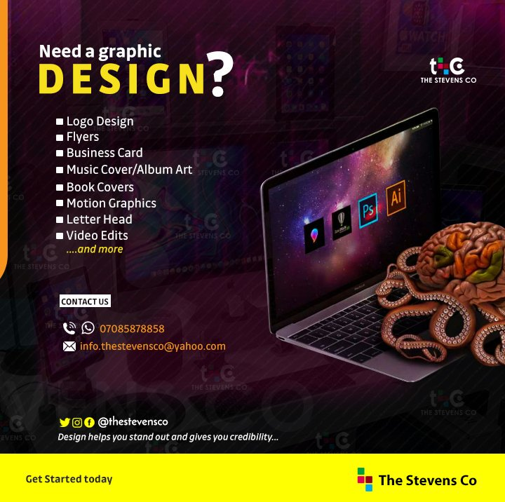 Do you need a professional graphic design? • Business Logo • Business Card • Flyers • Banners • Music Cover .......and every other more Just Hit me up. 08162007591 #2018Wrapped #o2down #spotifywrapped #r4today #El_tiger_29111Drive #ThursdayMotivation #MassWomen