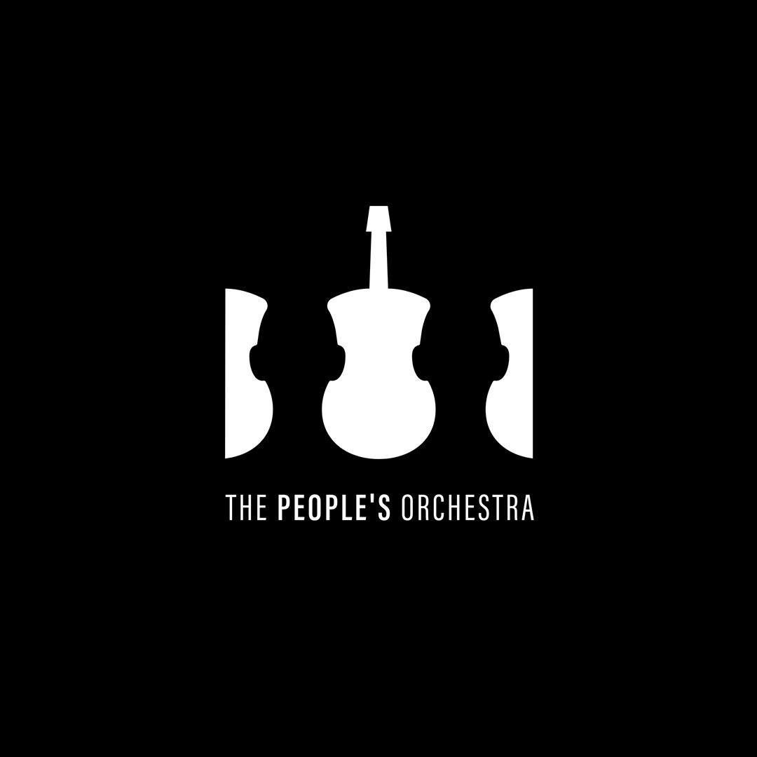 Logo for The People's Orchestra. ↳ nasibov.me/logofolio