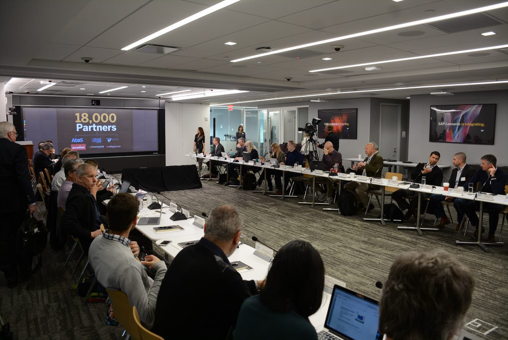 It's a packed house at our media and analyst day in #nyc #hudsonyards #SAPpartner as we talk the next revolution for @SAP partner ecosystem !<br>http://pic.twitter.com/B0GJrHBYjY