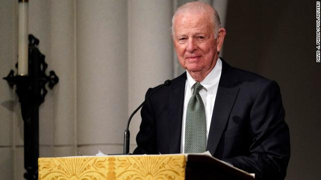 """Former Secretary of State James Baker gives the first eulogy at former President George H.W. Bush's Texas funeral, describing their relationship as """"one of big brother and little brother."""" Follow live updates: https://cnn.it/2GdbPkC"""