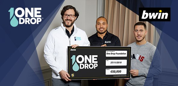 The #hazardseries charity tournament with @bwinpkr and @hazardeden10 raised 50,000 euros for @OneDrop!  Congrats to the winners of the series, AND the winners of One Drop's safe water access project! #changethegame 🌊♣️ >>https://bit.ly/2AWNtWt  <<