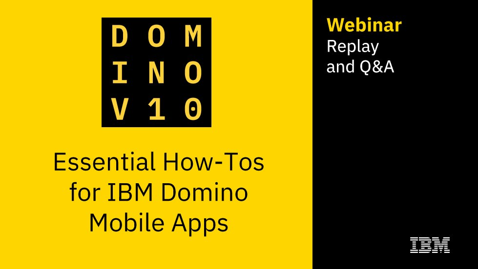Replay of last week's #Domino10 webinar is available if you missed it.