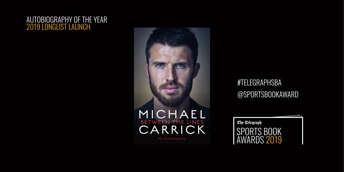 Congratulations to @Manutd legend Michael Carrick on being longlisted for The Telegraph @sportsbookaward Autobiography of the Year! @carras16 @BlinkPublishing #TelegraphSBA
