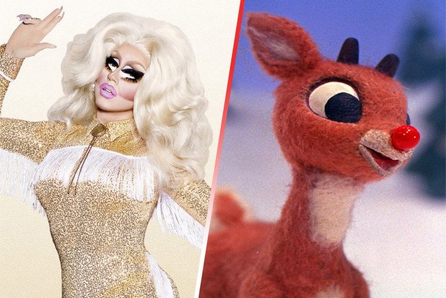 We imagined #DragRace Holi-slay queens as Rankin/Bass Christmas characters and of course @trixiemattel is Rudolph: dcdr.me/2RDUfb1 @RuPaulsDragRace