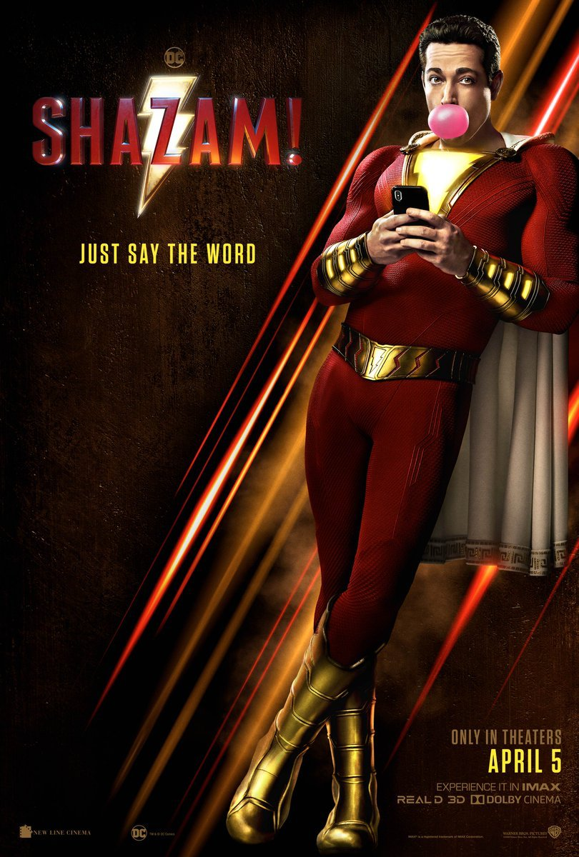Just say the word! #SHAZAMMovie – in theaters April 5.