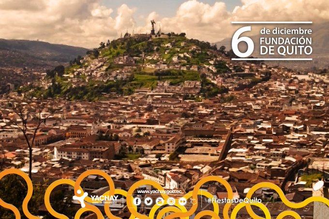 Desde @CiudadYachay, queremos extender un cariñoso abrazo, a la capital de los ecuatorianos por sus 484 años de fundación. ¡#VivaQuito y su valiosa gente! #FiestasDeQuito Photo