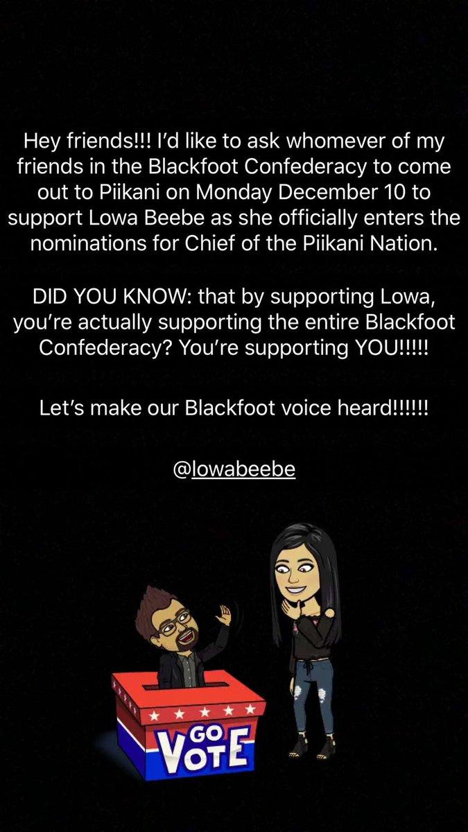 cf7172a01ec ...  kainaination  blackfoot  blackfootconfederacy  FirstNations  lowabeebe   community  Workingtogether  progress  INDIGENOUSpic.twitter.com C8hXksF7Qn