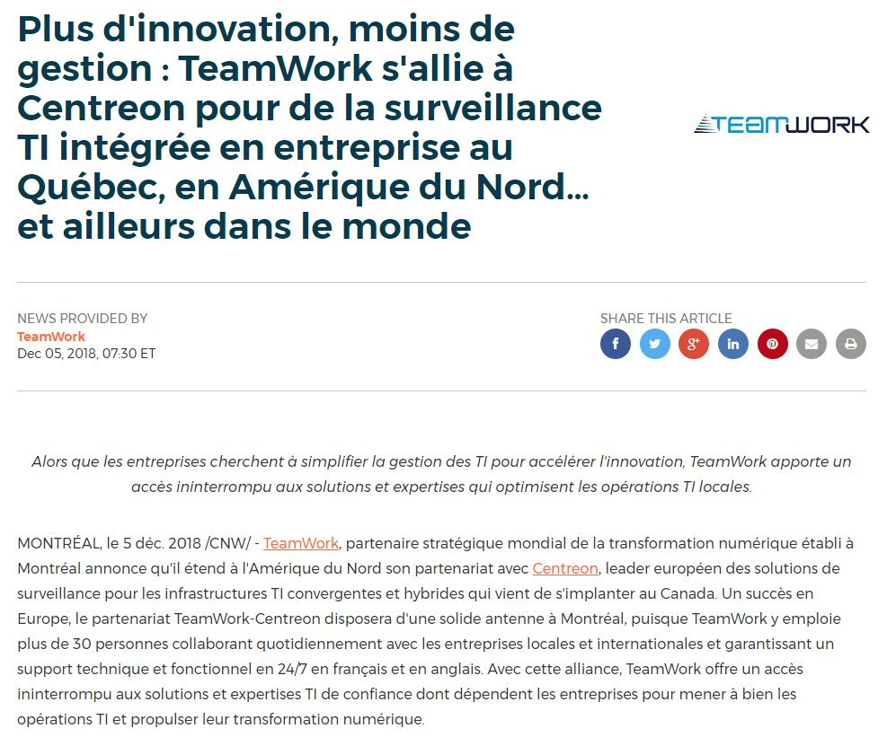 Image for the Tweet beginning: Plus d'innovation, moins de gestion