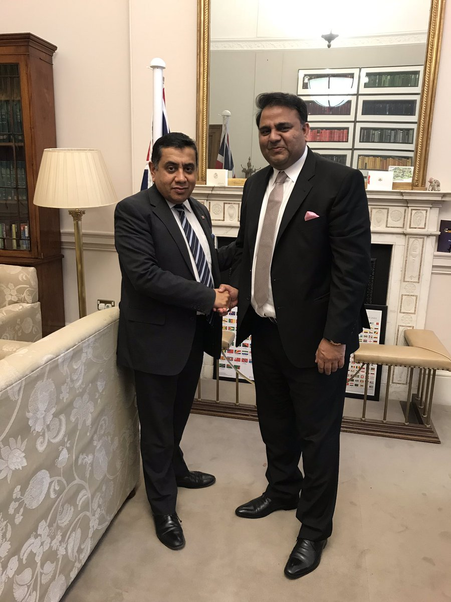 Wide ranging and constructive discussions with @fawadchaudhry including key priorities of #FoRB #MediaFreedom, security and economic cooperation <br>http://pic.twitter.com/8Mr4XyKKuD