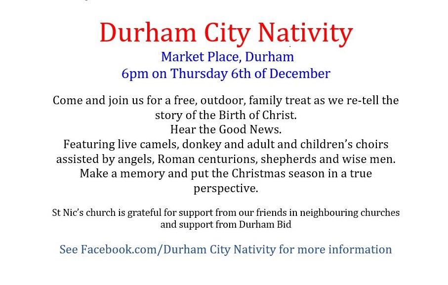 Durham City Nativity Durham Nativity Twitter