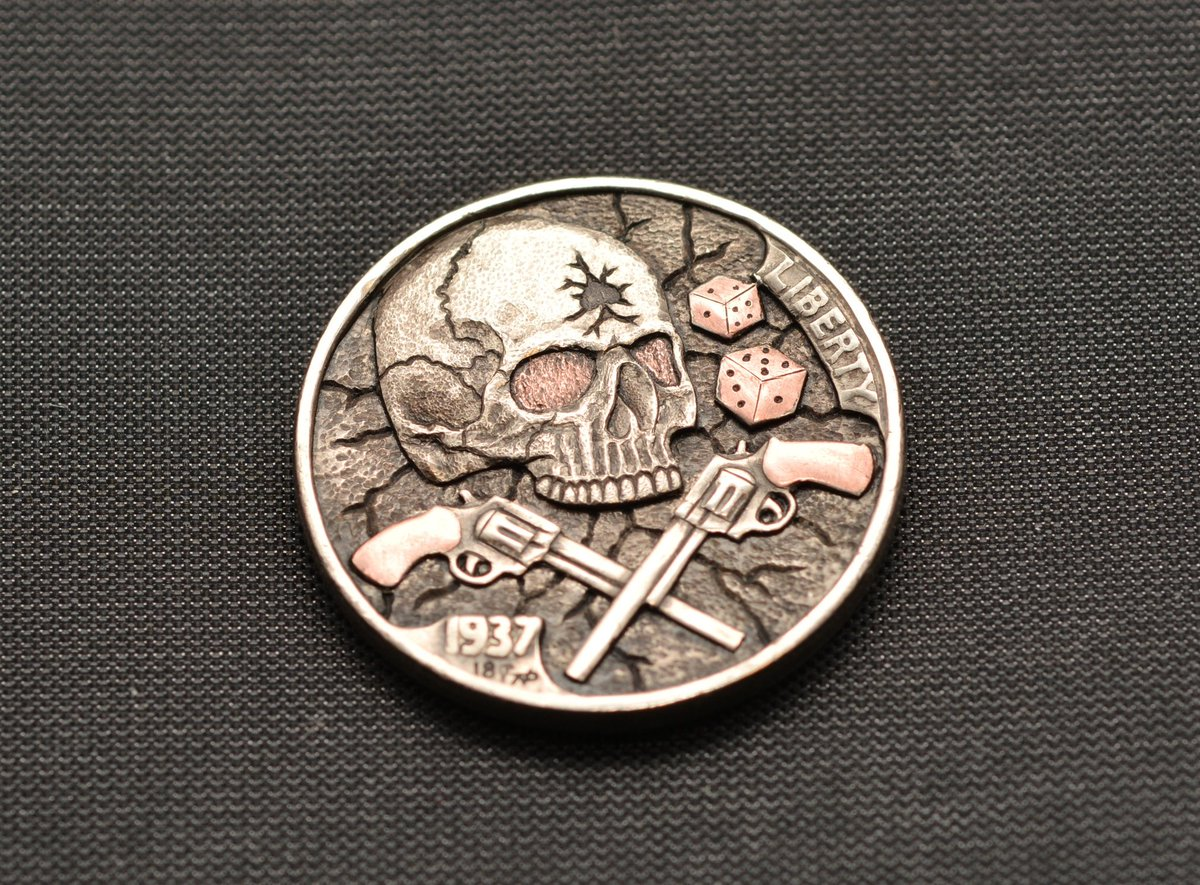 Narimantas Palsis On Twitter Hobonickel Gambler Copper Inlay Coins Coin Handengraved Handengraving Engraving Engraved Buffalonickel Skull On Ebay Auction Https T Co Bjznk4ankp Https T Co Bpged8vqwx