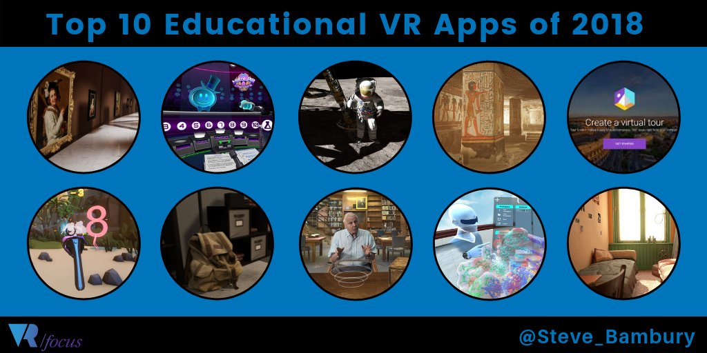 More Top Educational Apps >> Steve Bambury On Twitter New On Vrfocus My Top 10 Vr Education