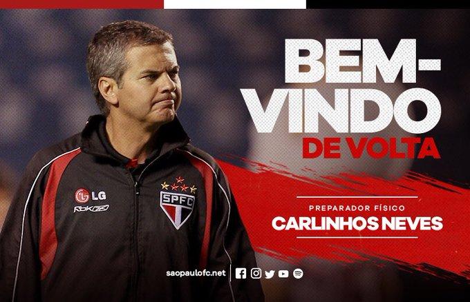 Carlinhos Neves está de volta ao São Paulo 🇾🇪 Leia em: Photo