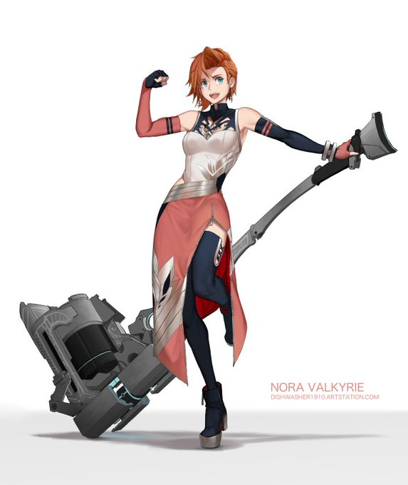 """Nora Valkyrie - RWBY 3.0"" by dishwasher1910 Bach Do氏のイラストレー"