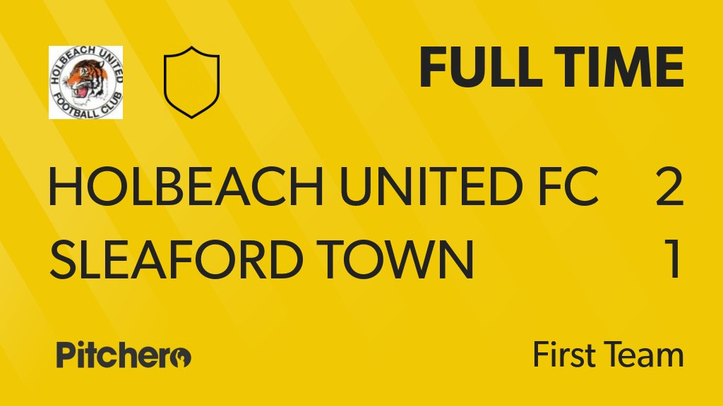FULL TIME: Holbeach United FC 2 - 1 Sleaford Town #HOLSLE #Pitchero http://www.pitchero.com/clubs/holbeachunitedfc/teams/95044/match-centre/0-4227727?utm_campaign=score_update&utm_medium=post&utm_source=twitter&utm_content=FT…