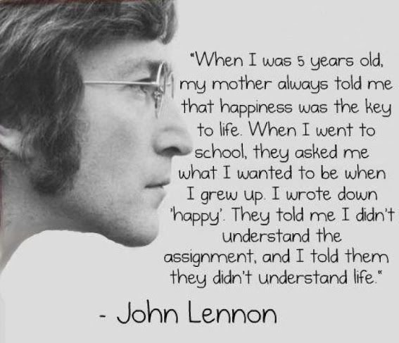 The great John Lennon putting things in perspective! #POSITIVITY is the 🔑 Foto