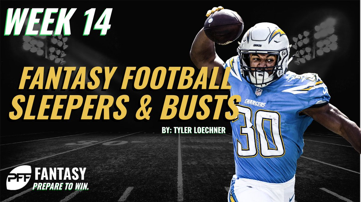 Fantasy players! Need your weekly dose of sleepers and busts? @LoechnerNFL has you covered for Week 14. Prepare to Win with @PFF_Fantasy pffoc.us/2UnzAcP