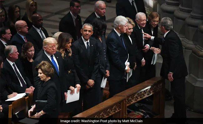 #GeorgeHWBush eulogies highlight stark divides between presidents 41 and 45 https://t.co/CBB7GXs33g