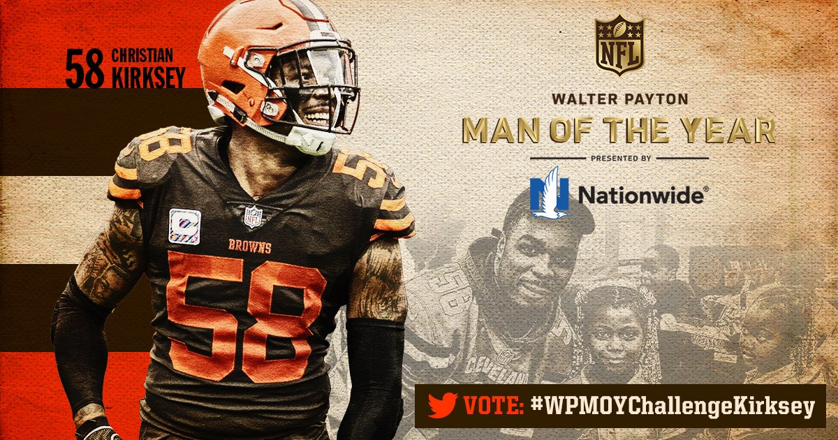 Cleveland Browns's photo on Walter Payton Man of the Year