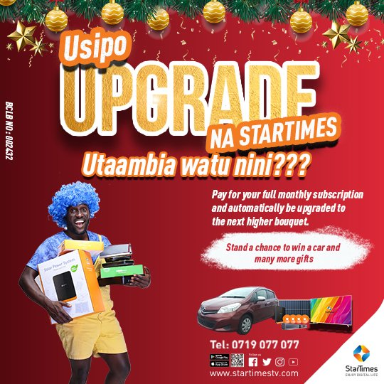 Stand chance win car prizes StarTimes Simply pay monthly