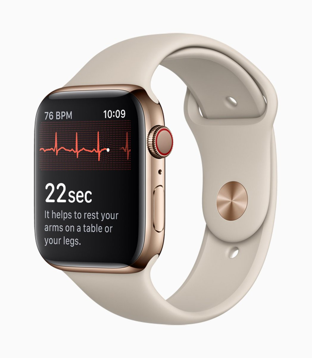 Apple has confirmed That watchOS 5.1.2 - which will enable the ECG capabilities of the Apple Watch Series 4 - will be released to the public today. #applenews  https://t.co/1pU6NbOe7Y