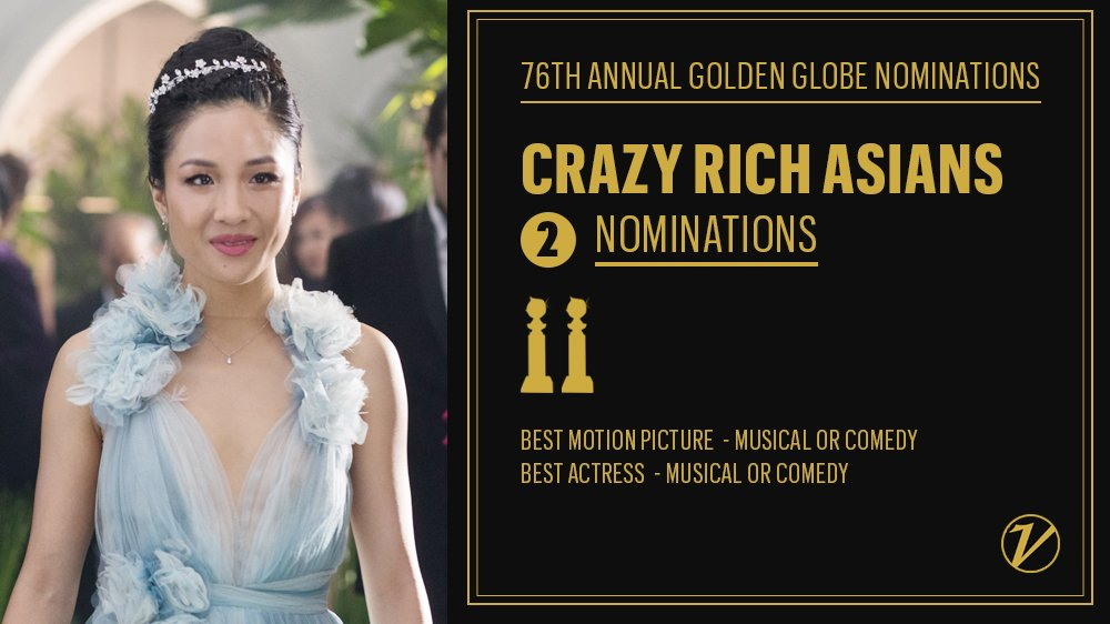 #CrazyRichAsians scored two #GoldenGlobes nominations, including a Best Actress nom for Constance Wu  http:// bit.ly/2G0zSDx  &nbsp;  <br>http://pic.twitter.com/tSzxcao05w