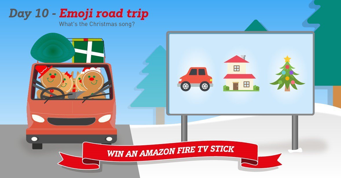 It&#39;s day 10 of our#12DaysOfChristmasgiveaway and the Spice family have got the Christmas tunes on in the car. Can you guess what song they&#39;re listening to for your chance to#winan Amazon Fire TV Stick? Enter by midnight tonight. T&amp;Cs apply   https:// 1stcentral.co/2DLIls7  &nbsp;  <br>http://pic.twitter.com/7oCl3WB4xz