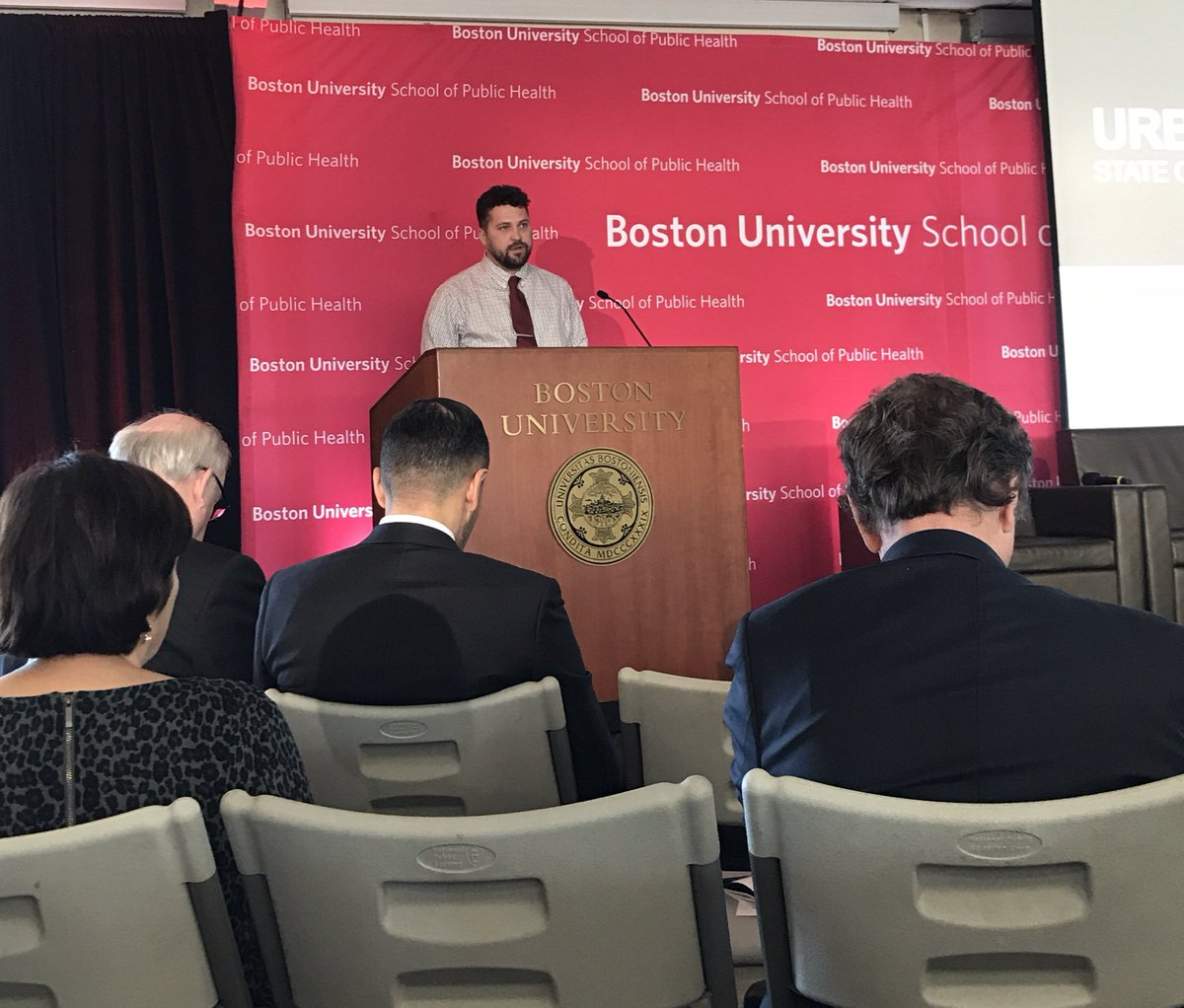 Crime and criminal justice: crime is heavily concentrated in urban areas, crime rates have dropped significantly over last 30 years, crime and violence aren't uniformly distributed across urban space - Matt Vogel #BUSPHSymposia @BUSPH @umsl @tudelft<br>http://pic.twitter.com/UIWMZKghK4