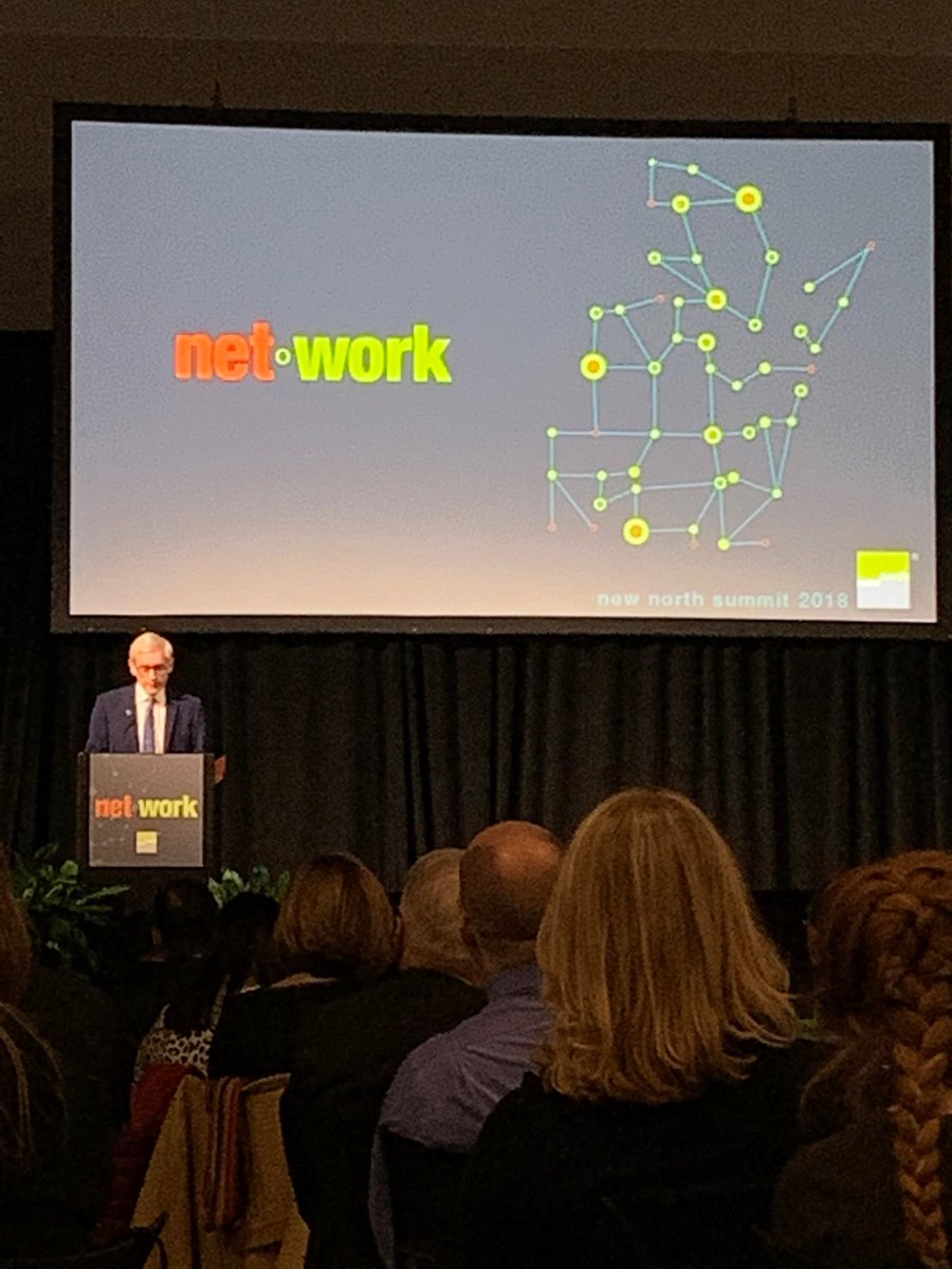 New North is a champion for achieving results by connecting the dots - Governor Elect Tony Evers #NNSummit18 <br>http://pic.twitter.com/yb6TQ49VwE