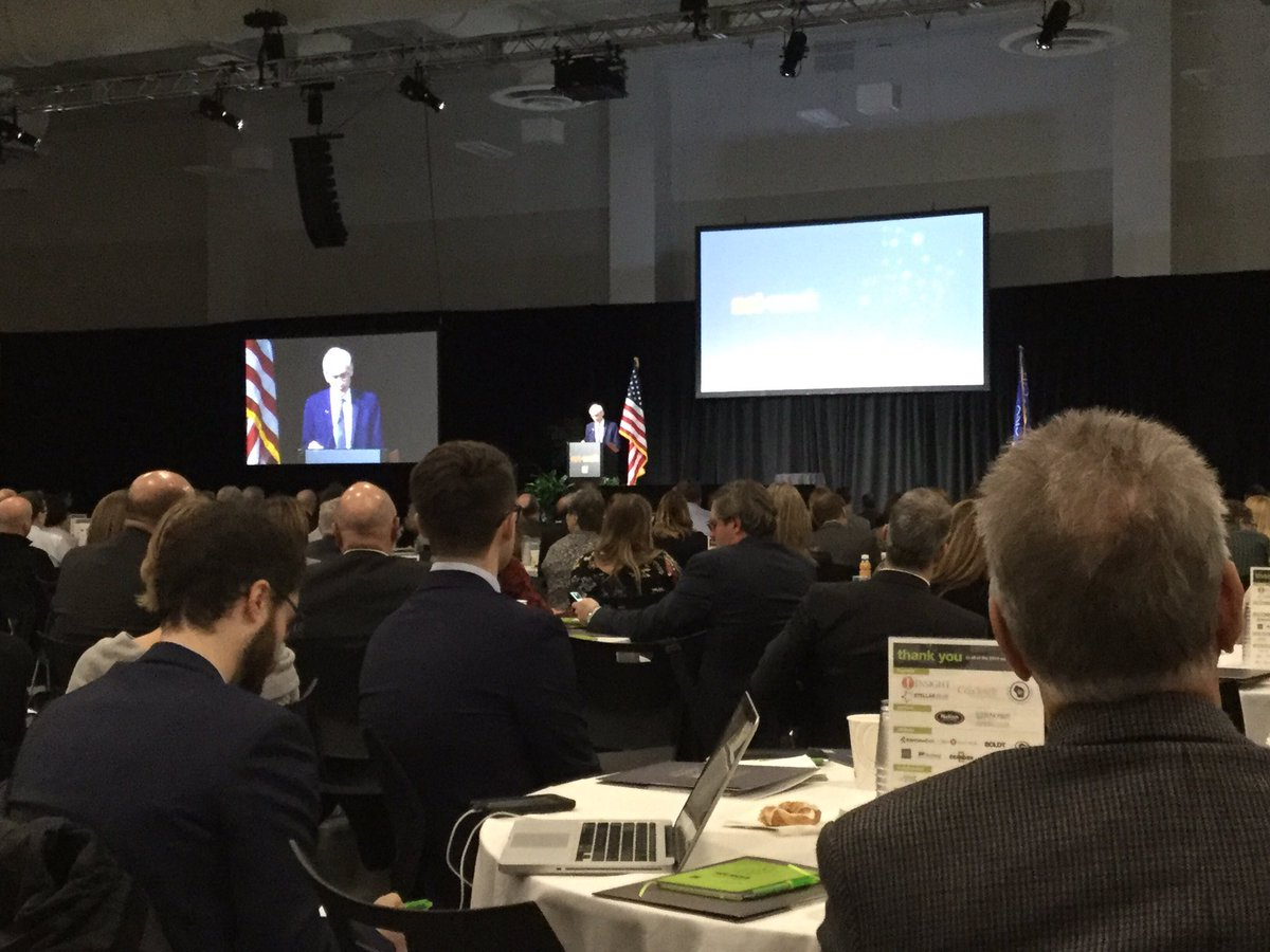 Governor-elect Tony Evers shares comments at #nnsummit18, stressing the importance of giving K-12 students opportunities for workplace experience and improving the state's transportation infrastructure.  Looks to build bridges with economic developers to benefit #wisconsin.<br>http://pic.twitter.com/x0a2bYSEhp