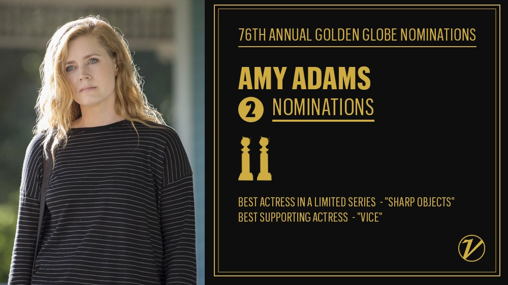 Amy Adams was nominated for both TV and film #GoldenGlobes awards https://t.co/9sE7IeIUbE https://t.co/rhCy5Ue6oD