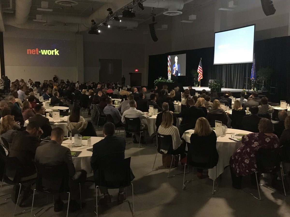 Gov-elect @Tony4WI addresses capacity gathering at annual @TheNewNorth summit at @cityofappleton @foxcitiesec. #NNSummit18 <br>http://pic.twitter.com/J0F7x2Ylfp