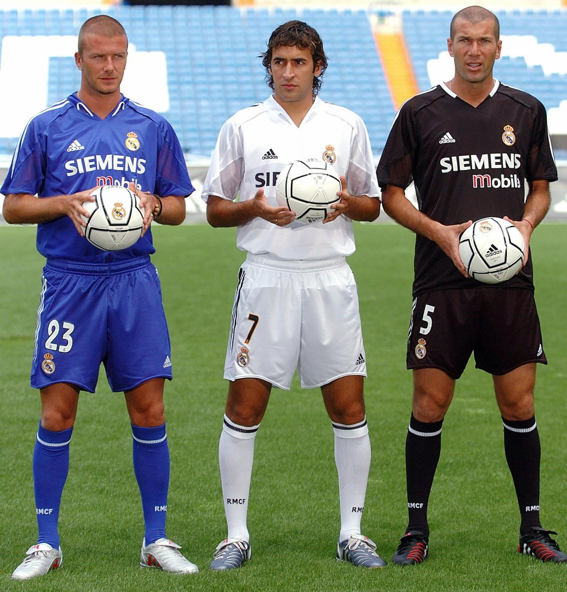 This trio at Real Madrid 😍  #UCL #ThrowbackThursday