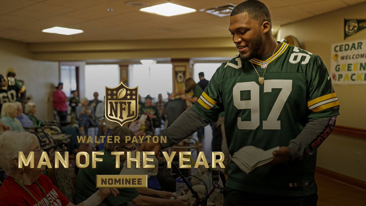 Green Bay Packers's photo on Walter Payton Man of the Year
