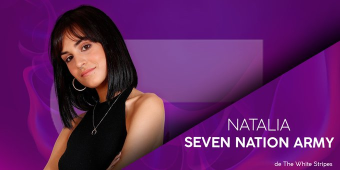 "👉 @natalialot2018 cantará ""SEVEN NATION ARMY"" de THE WHITE STRIPES #OTDirecto6DIC Photo"