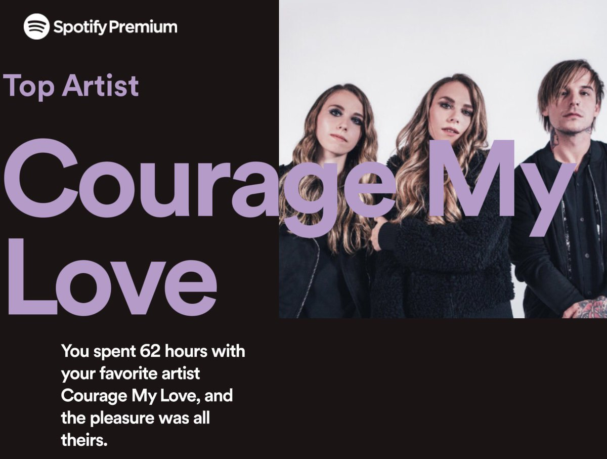 RT @daveycharris666: Sounds about right @couragemylove 🤙🏻 #2018Wrapped https://t.co/NuZOTpMCIR