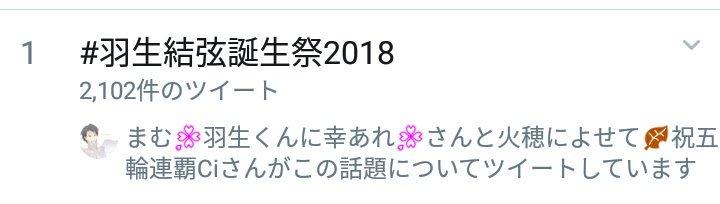 羽叶(うきょう)☆*・゜'s photo on #羽生結弦誕生祭2018