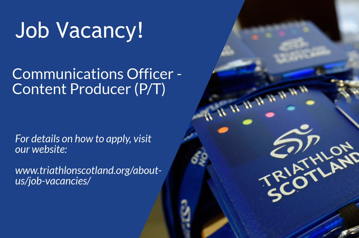 Triathlon Scotland On Twitter We Have A Current Vacancy For A Part