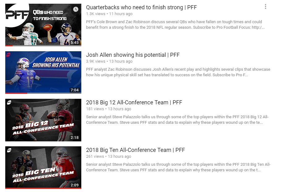 The latest 📺 up on the PFF @YouTube channel: youtube.com/profootballfoc…