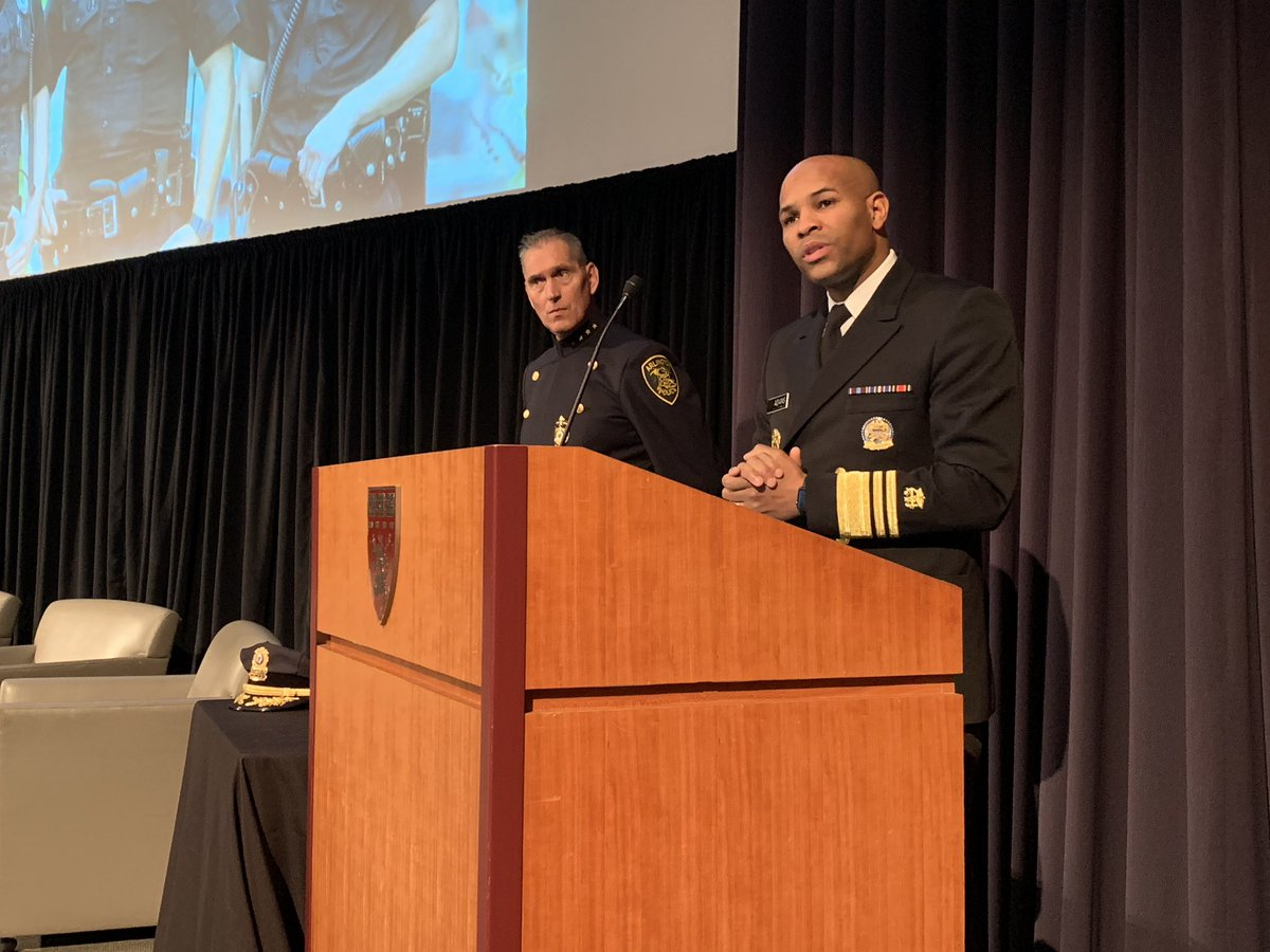 """Adams: We have to address the opioid crisis together, since law enforcement serves as a """"critical intervention point for those who have lost their way."""" @Surgeon_General #PAARISummit2018 <br>http://pic.twitter.com/WS2bzYbfh0"""