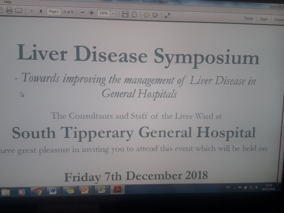 National Liver Disease Symposium tomorrow in STGH December 7th. Looking forward to welcoming you all. #STGHliversymposium2018