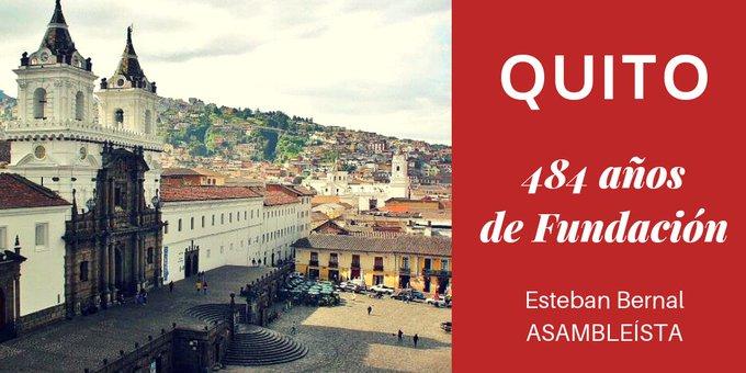 Querido Quito, ciudad mágica, de gente amable que abre las puertas a propios y extraños con la misma alegría. Epicentro de la política nacional y la lucha por la libertad. Te rindo homenaje en tus 484 años de Fundación. #VivaQuito Photo