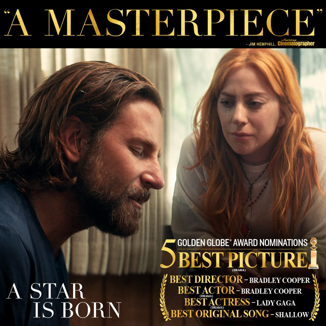 A Star Is Born's photo on Bradley Cooper
